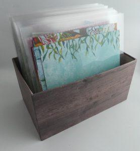 Kiste für Designerpapiere