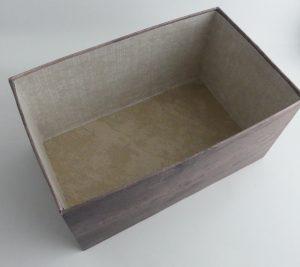 Kiste für Designerpapier - innen älteres Designerpapier