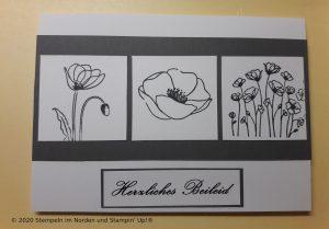 Trauerkarte mit Mohnblüten aus Painted Poppies.