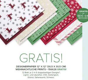Designerpapier Weihnachtliche Prints Quelle SAB Broschüre Stampi' Up!